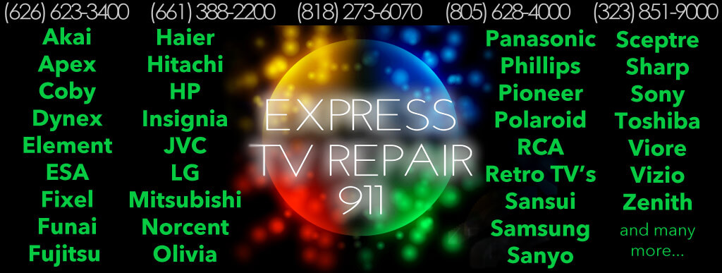 express tv repair mobile service - on site same day television repair. - Mobile Tv Repair