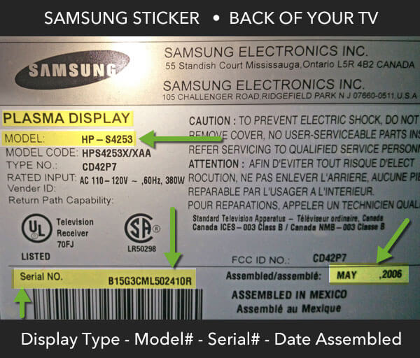 samsung serial number manufacture date