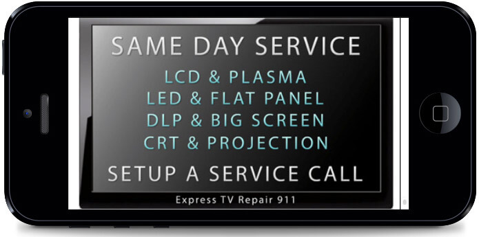 In Home Mobile TV Repair Service