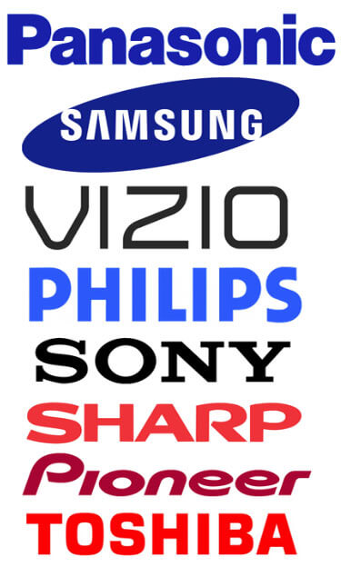 Panasonic Samsung Vizio Phillips Sony Sharp Pioneer Toshiba