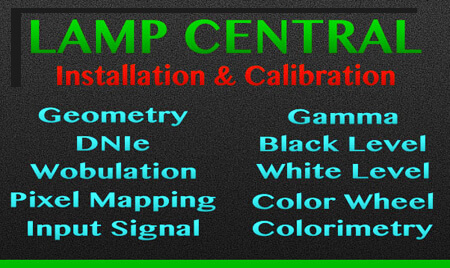 DLP & Projection TV Lamp Calibration Local TV Repair Service