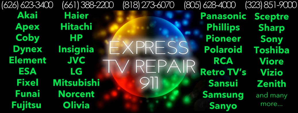 Express TV Repair Brands