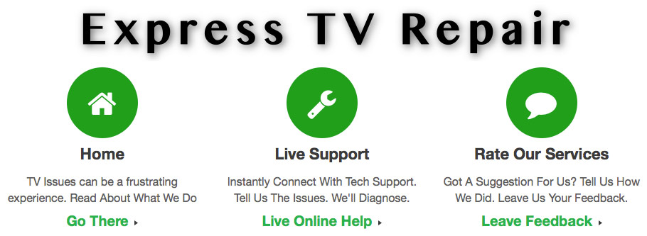 Express TV Repair Navigation