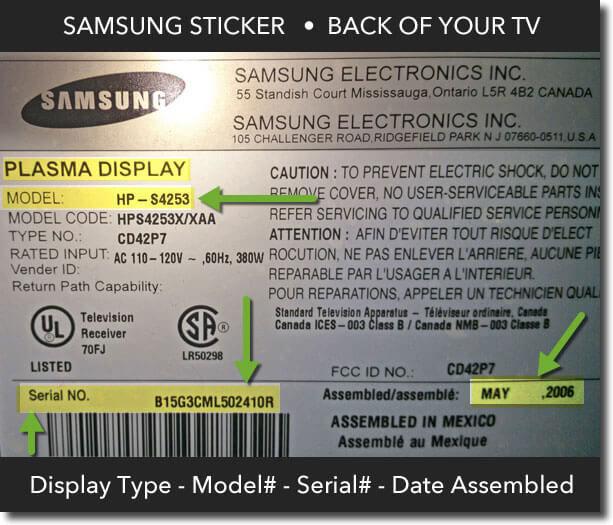 Samsung TV Model Number Express TV