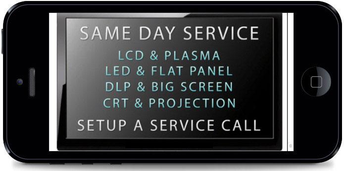 TV Repair Set Up A Service Call